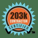 203K certified contractor badge